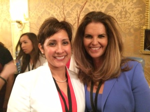 Lynette M. Fraga with Maria Shriver