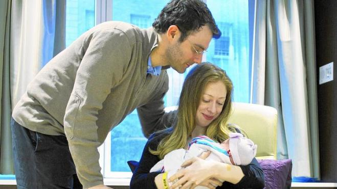 Chelsea Clinton with family